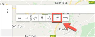 Appuyez sur l'option Ajouter un itinéraire pour ajouter une nouvelle couche d'itinéraires à une carte Google Maps personnalisée