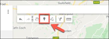 Appuyez sur Ajouter un marqueur pour ajouter un point de marqueur personnalisé dans l'éditeur de carte Google Maps