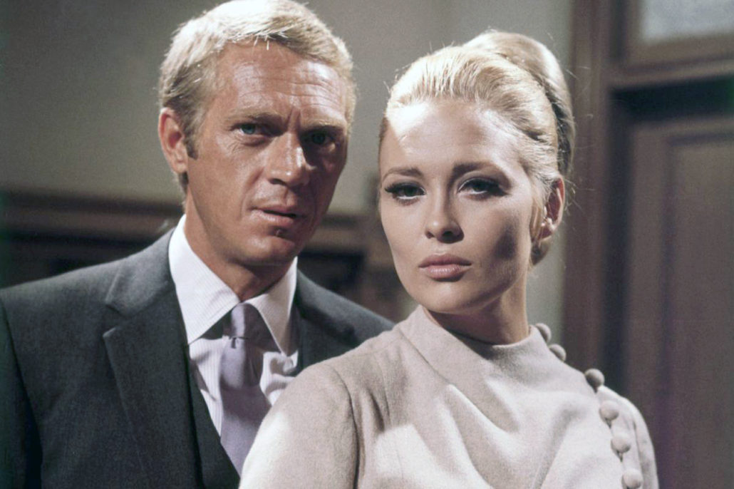 Steve McQueen et Faye Dunaway sur le tournage de The Thomas Crown Affair