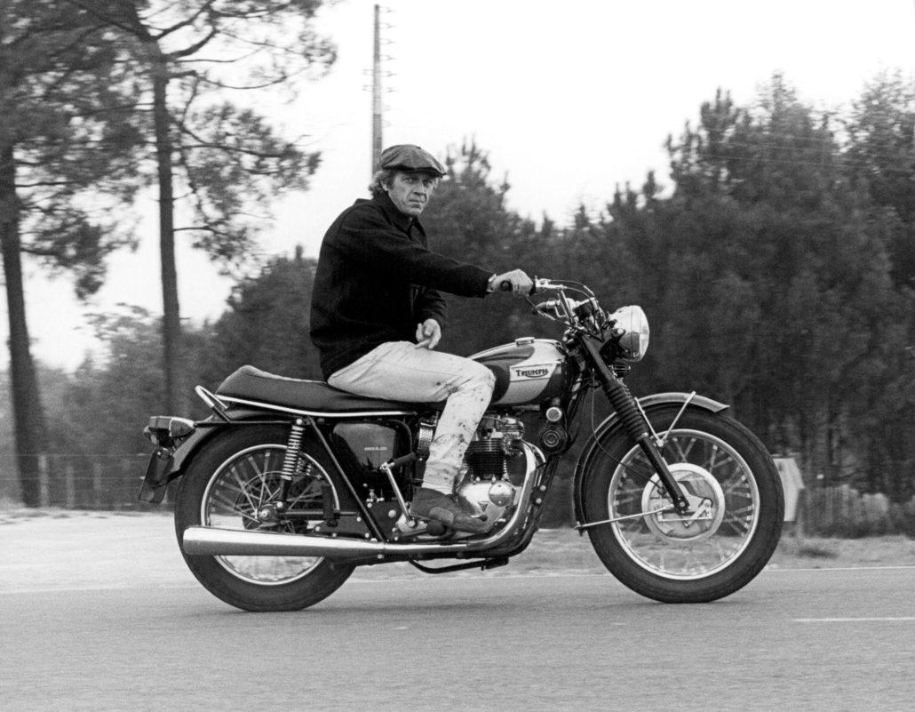 Passionné de moto Steve McQueen