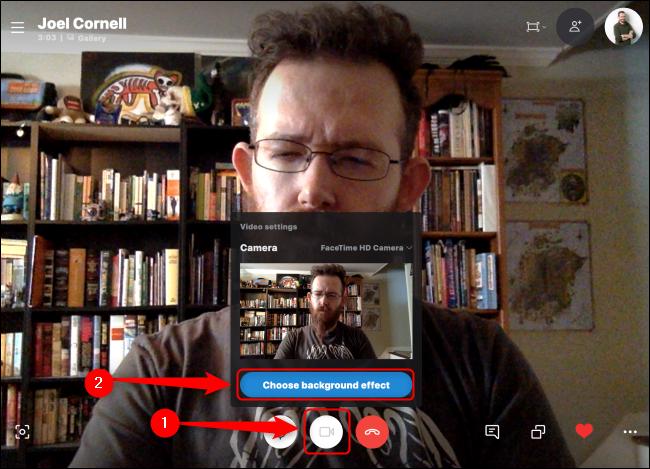 Skype Choisissez un effet d'arrière-plan
