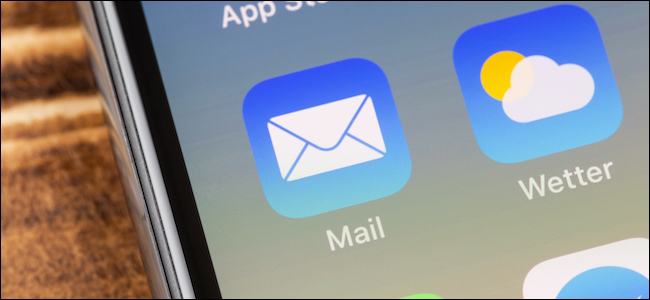 Icône de l'application Apple Mail sur un iPhone