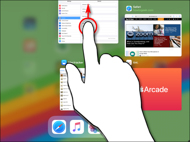 Fermer une application via App Switcher sur iPad
