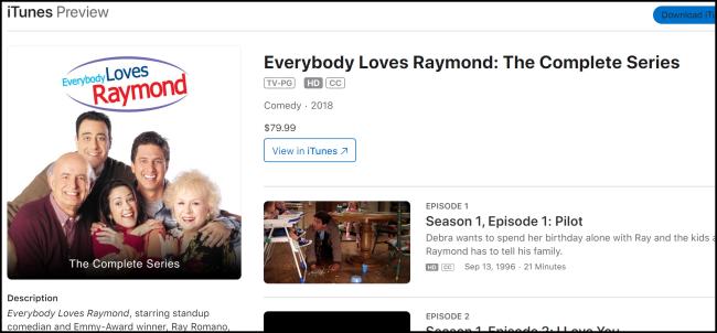 iTunes Tout le monde aime Raymond