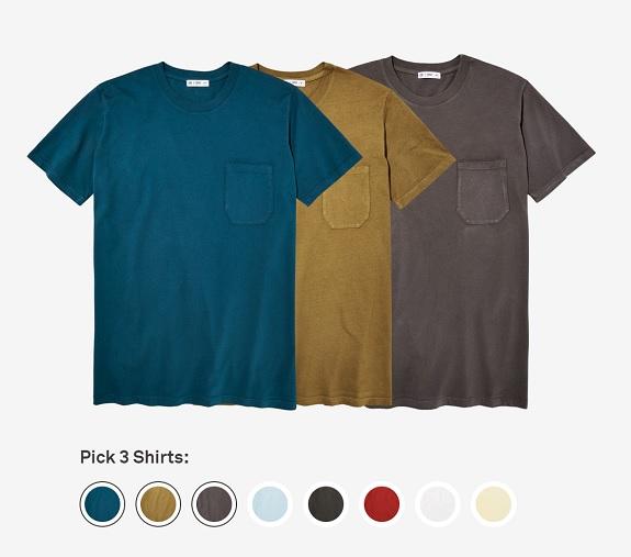 Message sur mesure: 3 t-shirts fabriqués aux États-Unis