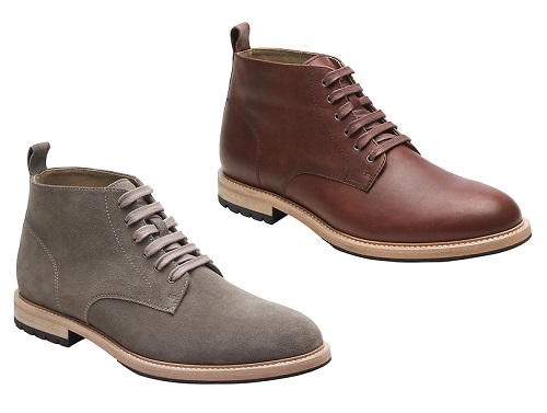 Bottes en daim ou en cuir marron Arley gris