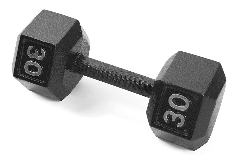 Meilleurs haltères pour l'entraînement à domicile - CAP Barbell Cast Iron Hex Humbbell