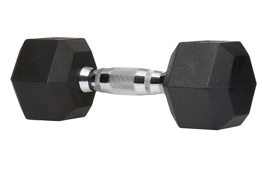 Meilleurs haltères pour l'entraînement à domicile - Poids d'haltère à main hexagonal en caoutchouc AmazonBasics