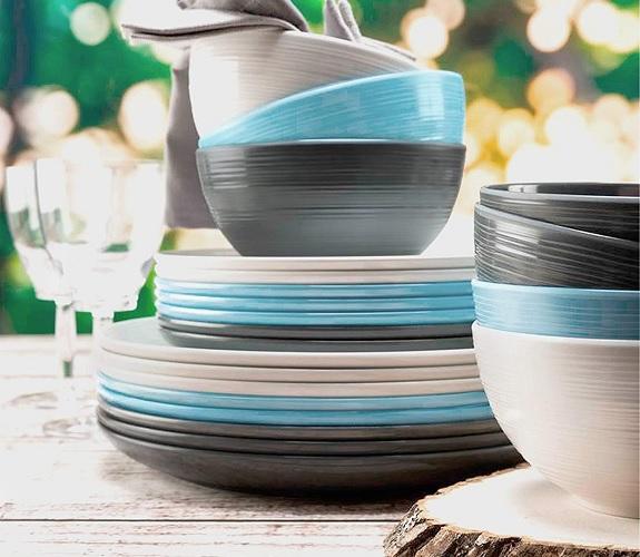 Ensemble de vaisselle 12 pièces en mélamine Zak Designs