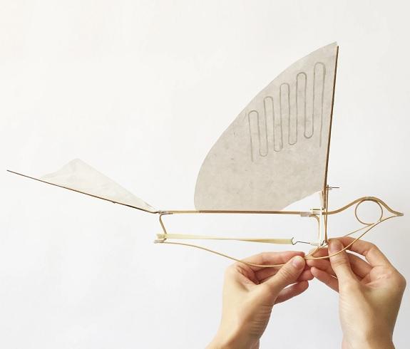 Laboratoire haptique Flying Martha Ornithopter