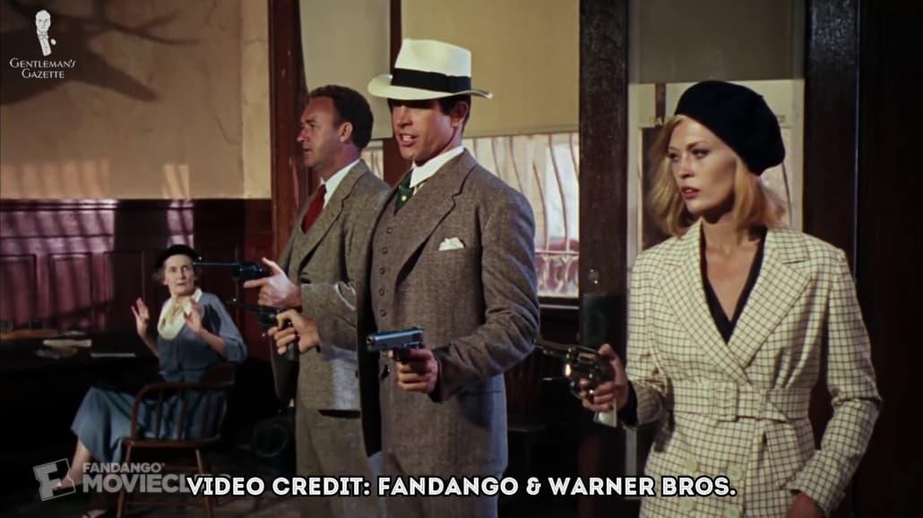 Warren Beatty et Faye Dunaway à Bonnie et Clyde