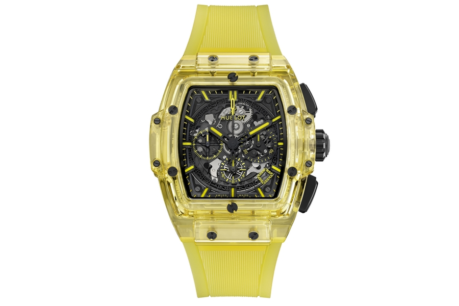 Collection de montres Hublot Sapphire jaune