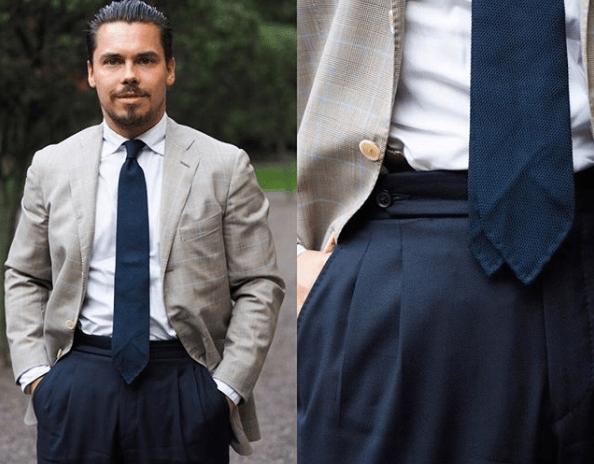 Cravate grenadine sans doublure Atte Rytkönen