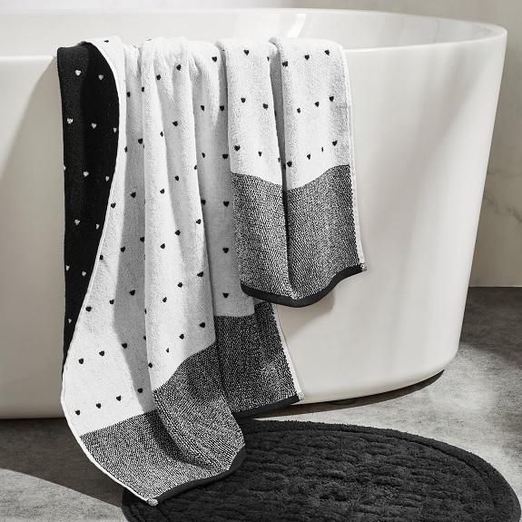 Ensemble de serviettes à rayures triangulaires DKNY