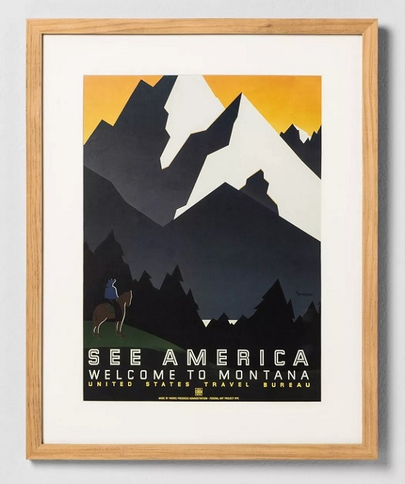 Voir l'art mural encadré d'Amérique