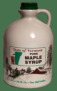 sirop d'érable du Vermont