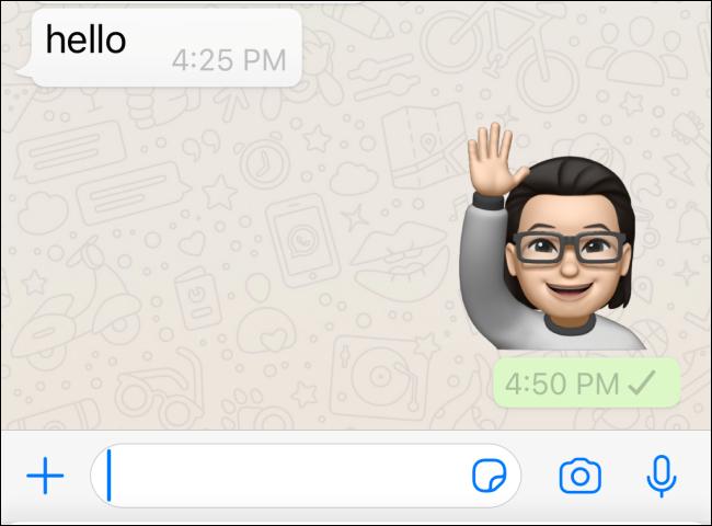 Memoji envoyé dans WhatsApp