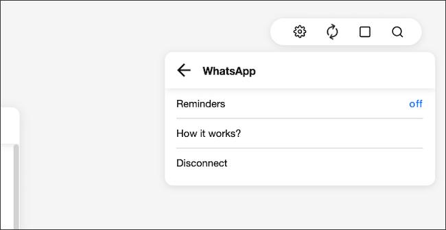 """Accédez au menu de l'icône d'engrenage> Intégrations> Rappels WhatsApp.  Cliquez sur le bouton «Off»."""" width=""""650″ height=""""336″ onload=""""pagespeed.lazyLoadImages.loadIfVisibleAndMaybeBeacon(this);"""" onerror=""""this.onerror=null;pagespeed.lazyLoadImages.loadIfVisibleAndMaybeBeacon(this);""""/></p> <p>Ici, vous pouvez également déconnecter Any.Do de votre compte WhatsApp en sélectionnant le bouton «Déconnecter».</p> <hr/> <p>Semblable à l'intégration de bot d'Any.Do, il existe plusieurs services qui vous permettent de transformer facilement les e-mails en tâches.</p> <p><strong>EN RELATION:</strong> <strong><em>Comment transformer rapidement les e-mails en tâches</em></strong></p> </div> <p><script>  setTimeout(function()   !function(f,b,e,v,n,t,s)   if(f.fbq)return;n=f.fbq=function()n.callMethod?   n.callMethod.apply(n,arguments):n.queue.push(arguments);   if(!f._fbq)f._fbq=n;n.push=n;n.loaded=!0;n.version='2.0';   n.queue=[];t=b.createElement(e);t.async=!0;   t.src=v;s=b.getElementsByTagName(e)[0];   s.parentNode.insertBefore(t,s)  (window, document,'script',   'https://connect.facebook.net/en_US/fbevents.js');    fbq('init', '335401813750447');    fbq('track', 'PageView');   ,3000); </script><br /> <br /><br /> <br /><a href="""