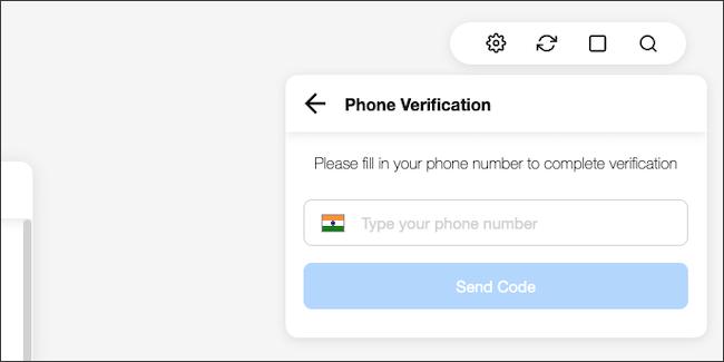 Tapez votre numéro de téléphone connecté à WhatsApp.
