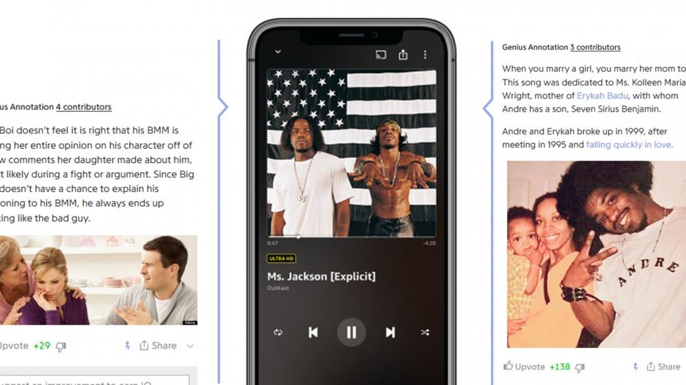 Amazon Music utilise désormais X-Ray pour afficher des annotations, des anecdotes et des paroles de type Genius pour les chansons.