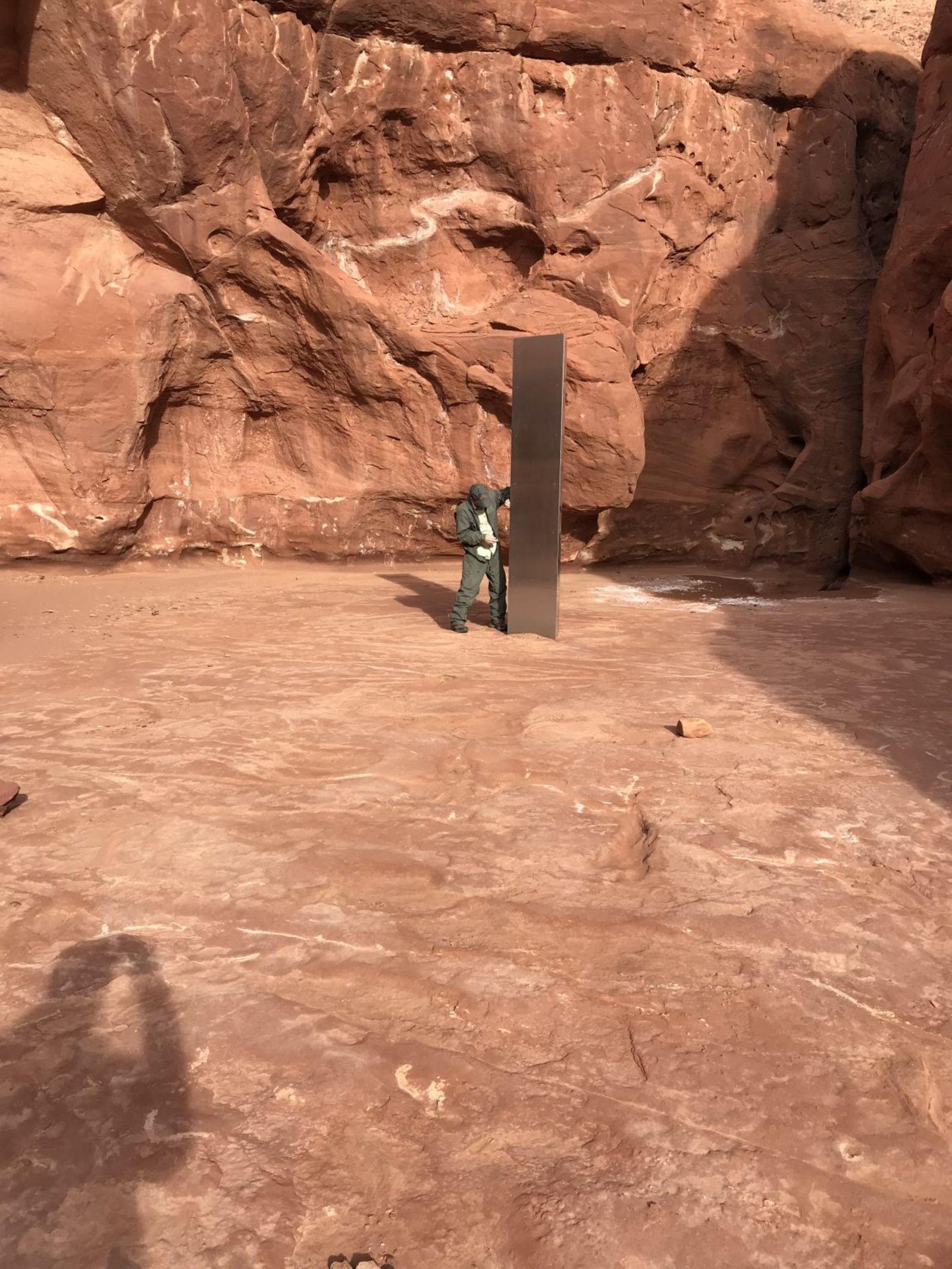 Illustration de l'article intitulé Monolithe inexpliqué découvert dans le Red Rock Country rural de l'Utah