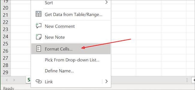 Cellules au format Excel