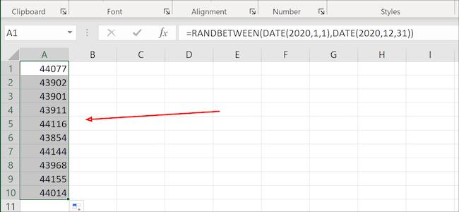 Colonne de surbrillance Excel
