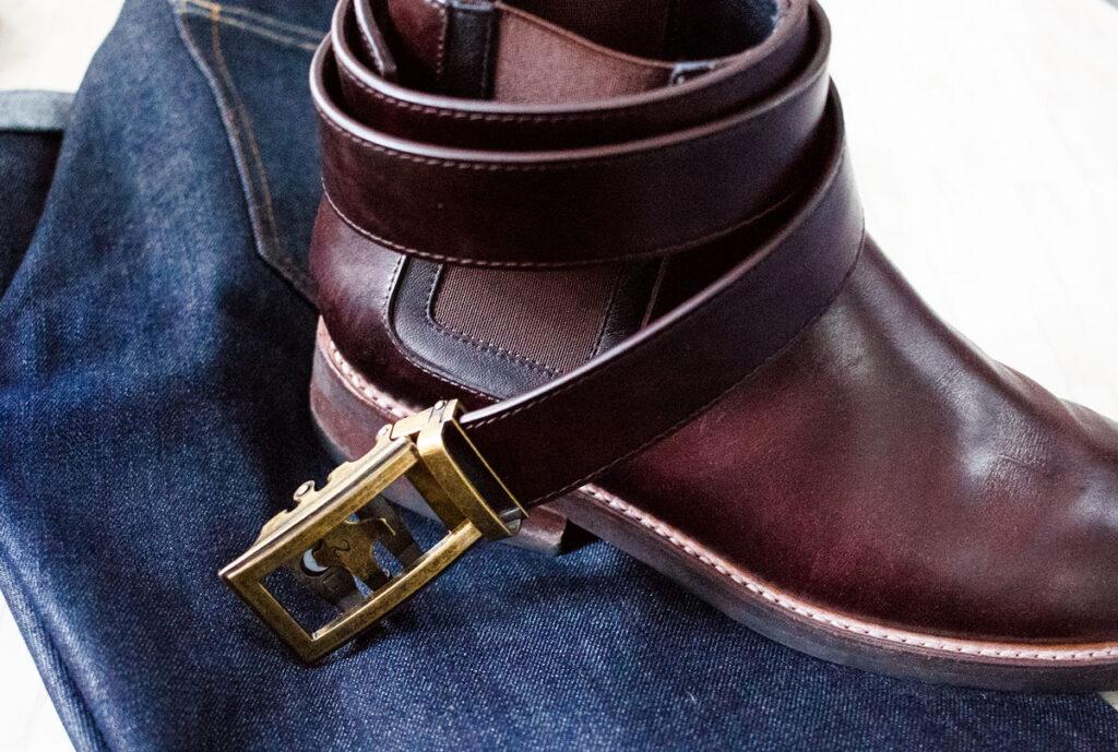 ceinture anson avec bottes de jeudi et denim foncé - effortlessgent
