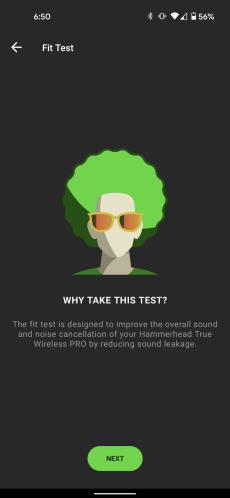 Une capture d'écran du test d'ajustement