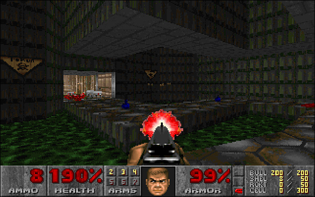 Une capture d'écran de Doom pour MS-DOS.