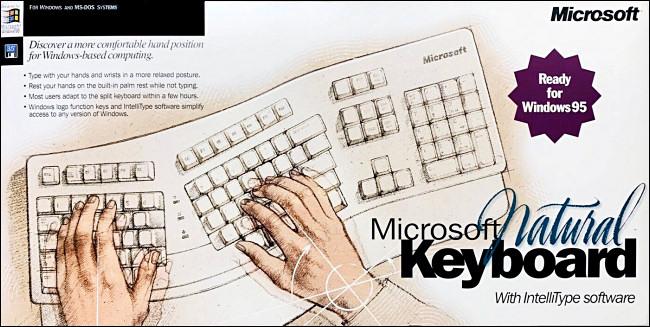 Boîte à clavier Microsoft Natural.