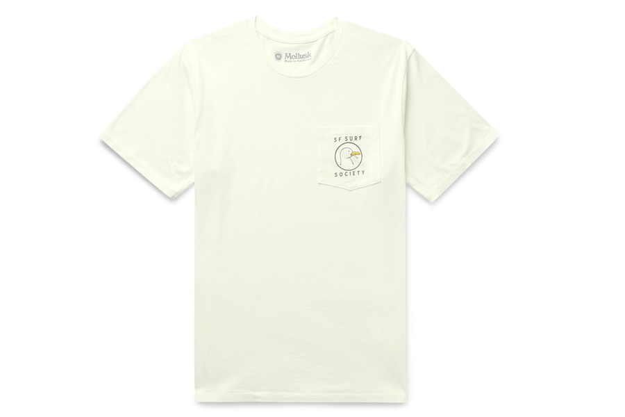 T-shirt en jersey de coton imprimé Mollusk Surf Society