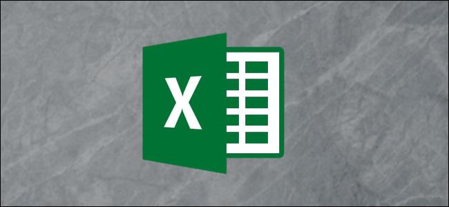 Le logo Microsoft Excel sur fond gris