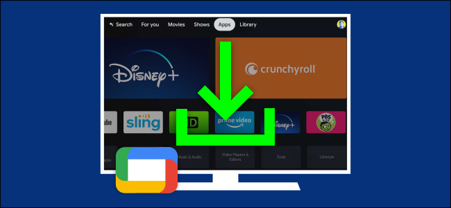 google tv installer des applications et des jeux