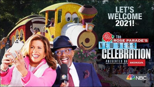 Célébration du Nouvel An de la Rose Parade sur NBC