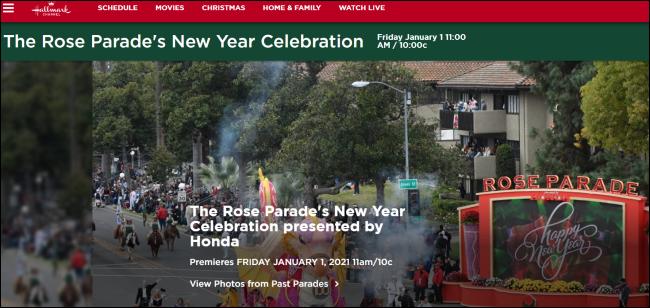 Célébration du Nouvel An de la Rose Parade sur Hallmark Channel