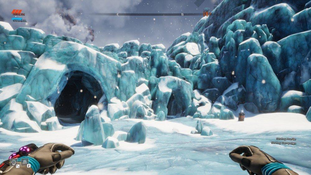 Un glacier gelé dans Journey to the Savage Planet