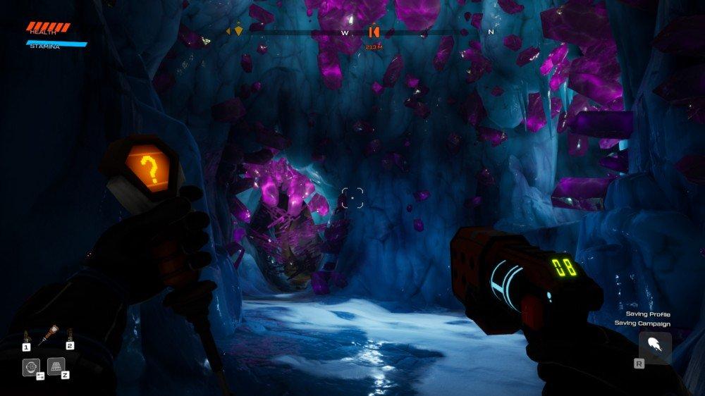Grottes de cristal de Journey to the Savage Planet