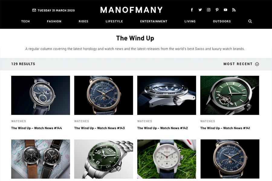 Meilleurs blogs de montres - Man of Many The Wind Up