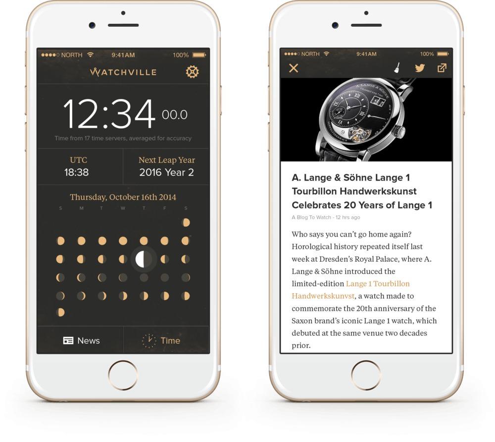 application watchville pour iphone et android