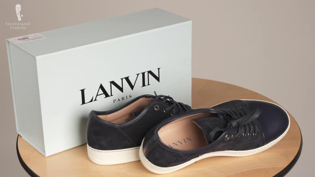 Baskets et boîte Lanvin
