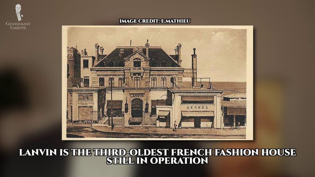 Lanvin, la troisième plus ancienne maison de couture française toujours en activité, a été fondée par Jeanne Lanvin.