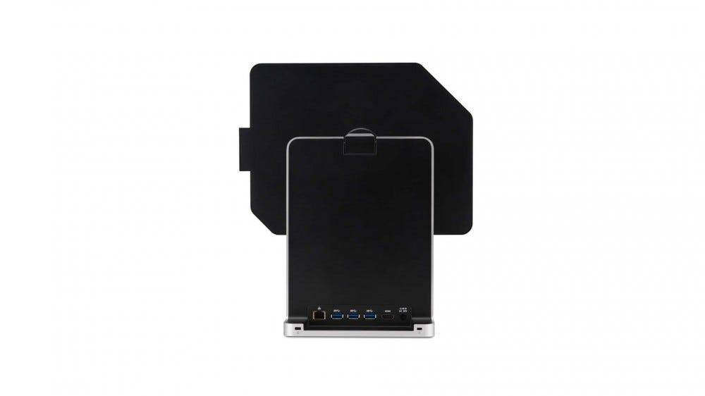 L'arrière du support montrant un port Ethernet, trois ports USB-A et un port USB-C