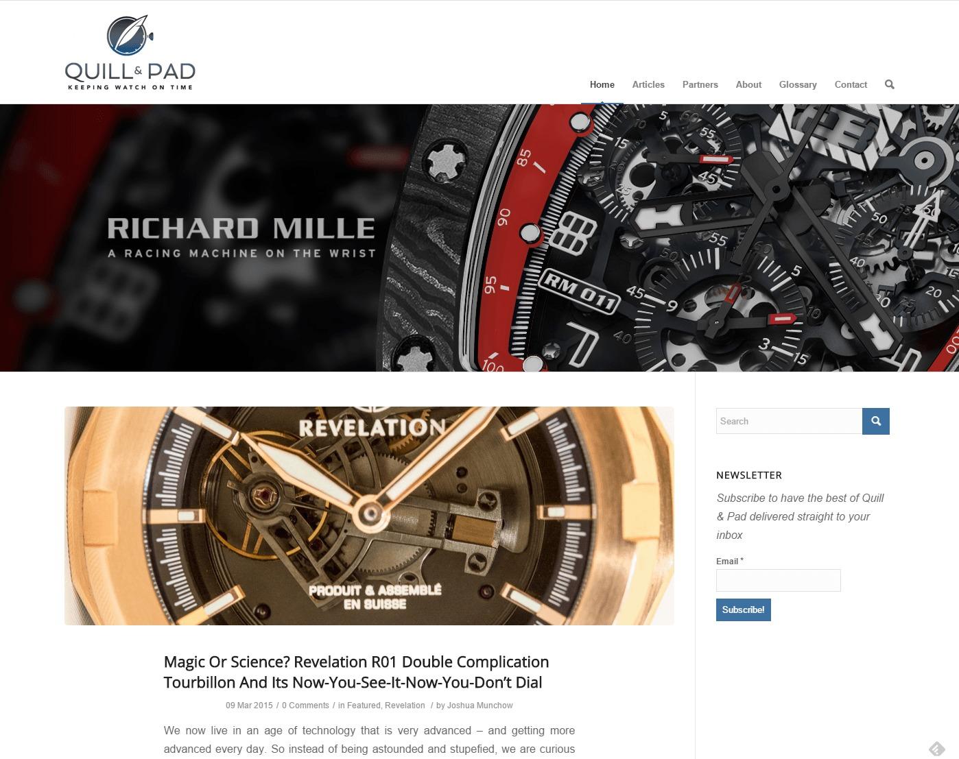 blog de montres de quill pad