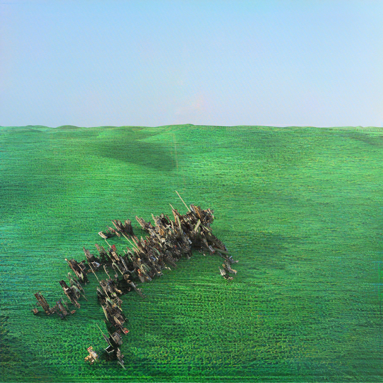 Oeuvre de Squid Bright Green Field