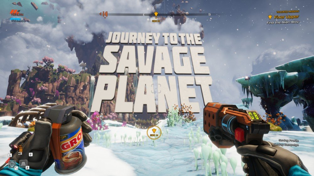 Tournée du titre d'ouverture de Journey to the Savage Planet