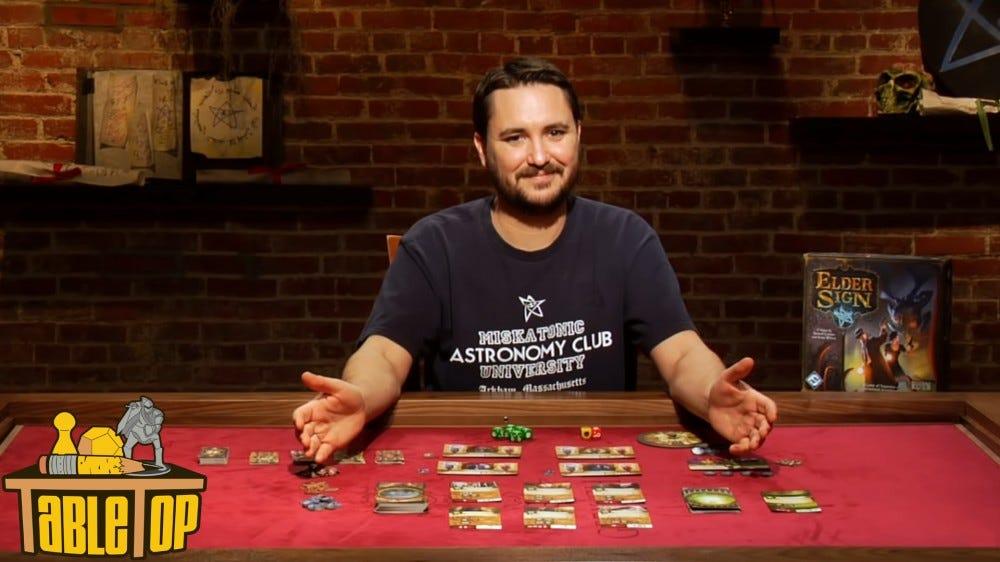 TableTop show sur YouTube avec Wil Wheaton expliquant les mécanismes de jeu à la table de jeu