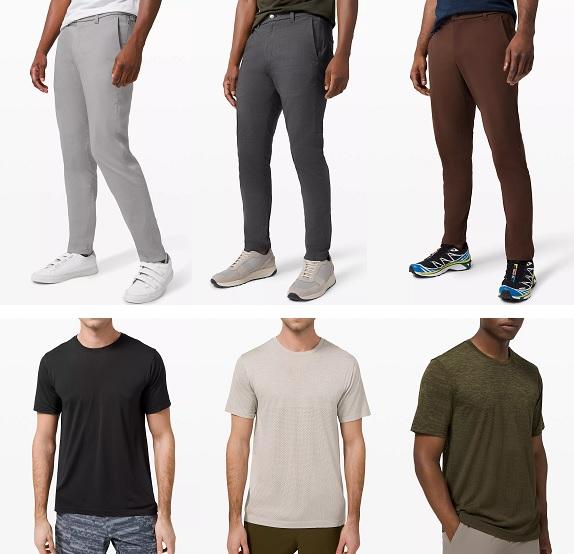 vêtements pour hommes lululemon