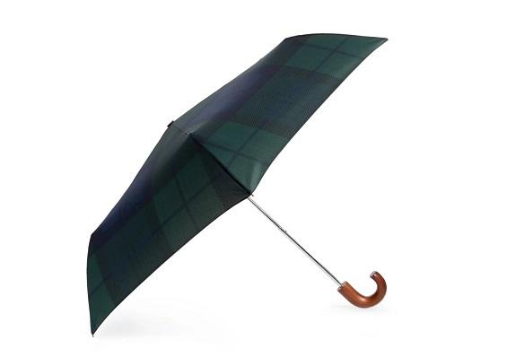 Mini parapluie à carreaux écossais Barbour
