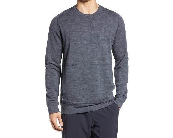 Sweatshirt à col rond en laine mérinos mélangée Icebreaker Shifter